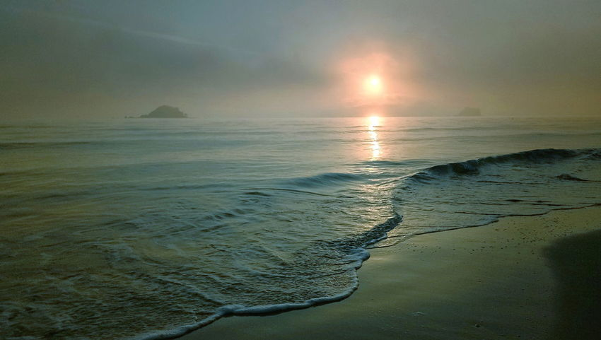 Sea Beach Water Sand Sun Nature Horizon Over Water Landscape Beauty In Nature Outdoors Cloud - Sky Sunrise Reflection No People Island