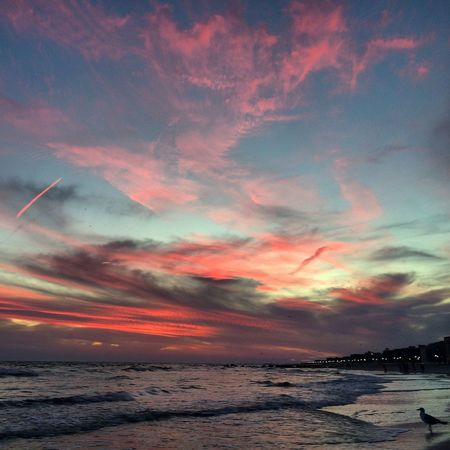 Sunset At Long Beach, NY Cotton Candy Clouds  Beautiful Sky EyeEm Best Shots