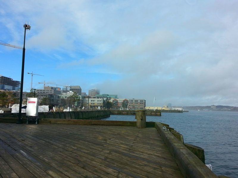 Winter? Halifax Harbour Waterfront Outdoors Noon Wintertime ? Blue Sky Clouds And Sky