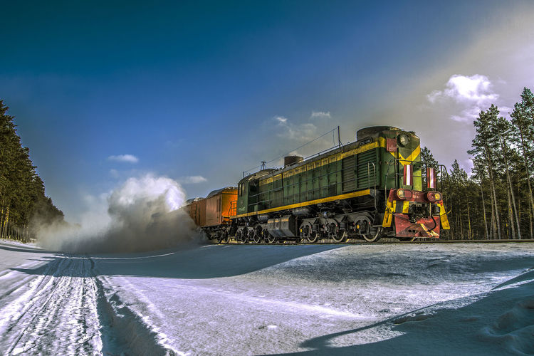 Day Mode Of Transport Nature No People Sky Steam Train Train - Vehicle Transportation