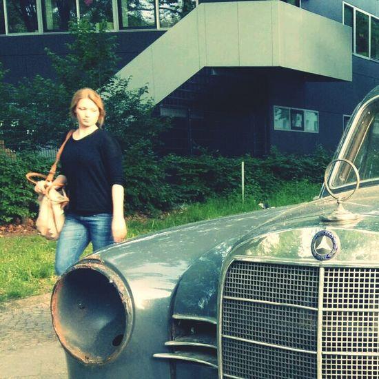 Stern Mercedes-Benz Mercedes Benz Redhead Oldtimer