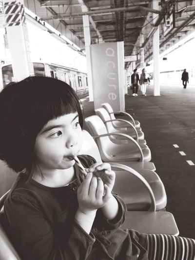 Real People Childhood One Person Lifestyles Young Women Indoors  Young Adult Day Japan Train Station The City Light The Portraitist - 2017 EyeEm Awards The Street Photographer - 2017 EyeEm Awards