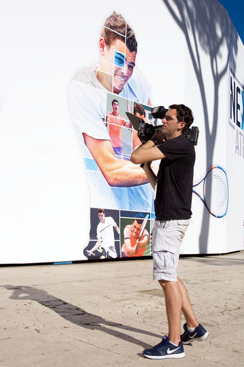 Cameraman at Next Gen Arena - Foro Italico - Roma 2017 - Italy Adult Arena At Work Camera CameraMan Foro  Full Length Gen International Italico Lifestyles Man Next One Person Outdoors People Real People Roma Shadow Sport Standing Tennis Video Video Camera Young Adult