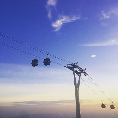 Skyway @ Genting Highlands Cable Cloud - Sky Scenics Sunset Overhead Cable Car Silhouette Cablecar Gondola Genting Highlands Skyway Serenity Calm