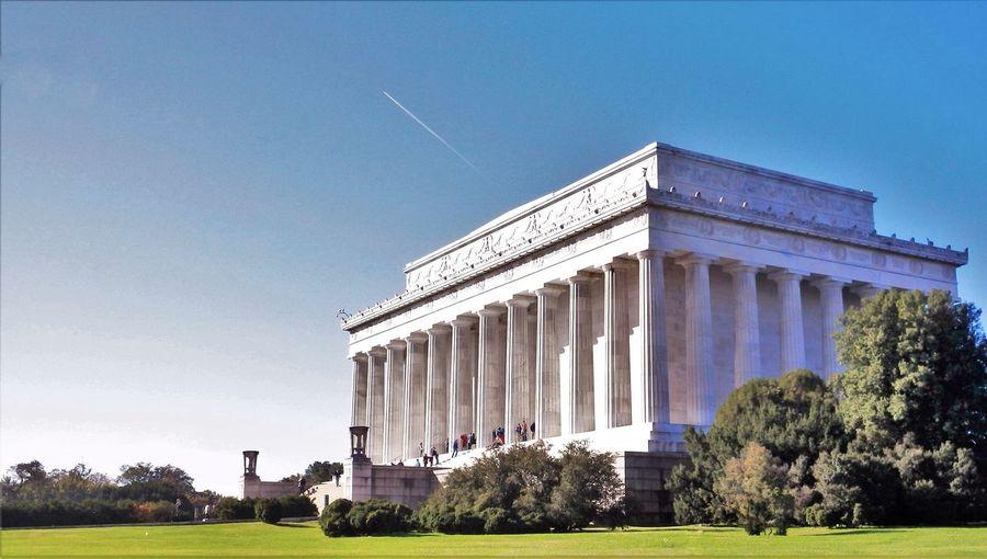 Lincoln Memorial Washington, D. C. Monument White Marble Pillar Architectural Feature Architectural Columns