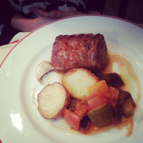 メイン - アイスランド産仔羊ロース(鞍下)肉のロースト Frenchcuisine Frenchfood フランス料理