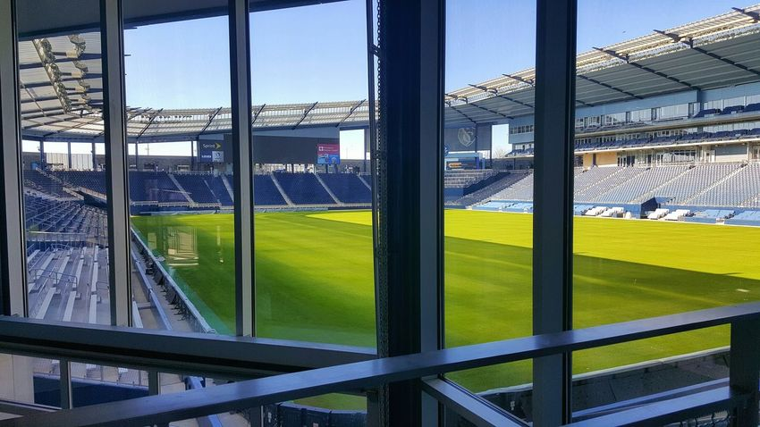 No People Pitch Football Pitch Soccer Field Beautiful Game Stadium Window Day Sporting Kc Skc Kansas City Stadium Seating Soccer Soccer⚽