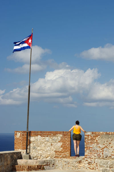 Cuba Pirate Architecture Bay Building Exterior Built Structure Carribean Castillo Del Morro Cloud - Sky Colonization Day Flag Fortress Leisure Activity Lifestyles Men Nature One Person Outdoors Patriotism Real People Rear View Santiago De Cuba Sky Standing Sunlight Tourism Travel Destinations Wind The Traveler - 2018 EyeEm Awards The Fashion Photographer - 2018 EyeEm Awards This Is Natural Beauty