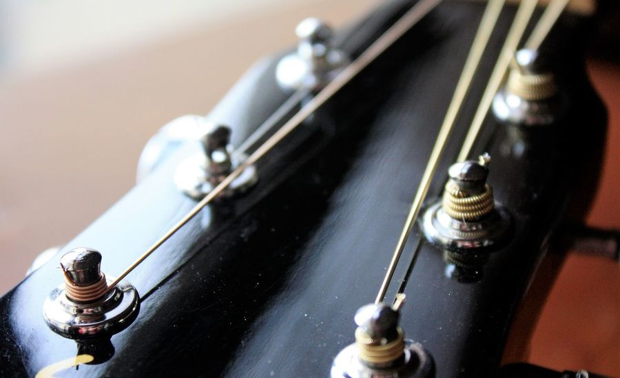 Strings ready to create beautiful music Close-up Guitar Indoors  Music Musical Equipment Musical Instrument Musical Instrument String No People