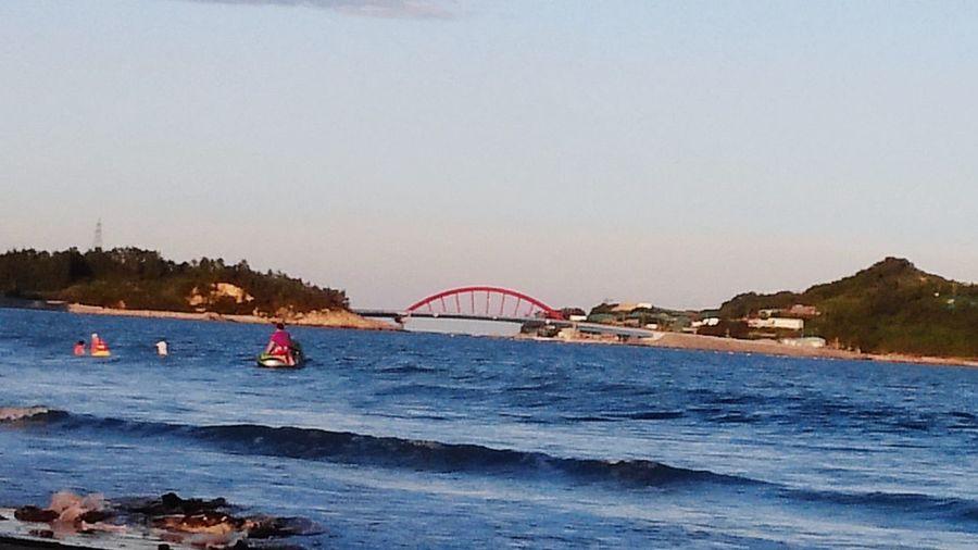 beach Korea Selatan Resort Beach Sea Travel Destinations Vacations Water Bridge - Man Made Structure Outdoors Blue Nature