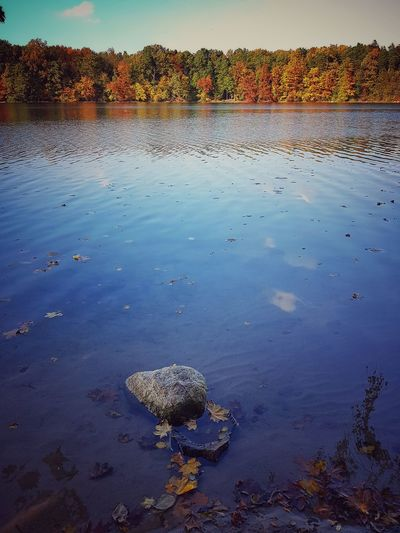 Water Nature Outdoors No People Day Sky Strausberg Lake Beauty In Nature Autumn Tranquility Reflection Fall Indian Summer