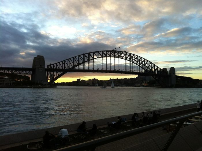 Photos of the 'Coat Hanger', Sydney, Australia 2012 Architecture Bridge - Man Made Structure City Cityscape Cloud - Sky Coathanger Harbor Night No People Outdoors River Sky Sunset Sydney Harbour Bridge The Coat Hanger Travel Travel Destinations Water