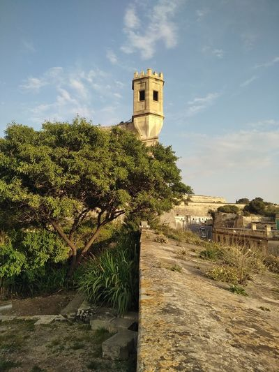 Malta Floriana Ancient Clock Tower Fort Castle Fortified Wall Civilization Ancient History Fortress