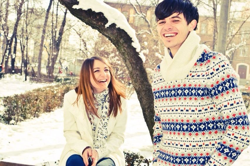 its better together Happy Couple Winter Snow Joy Love ♥ In Love Wonderful Irie Blissful