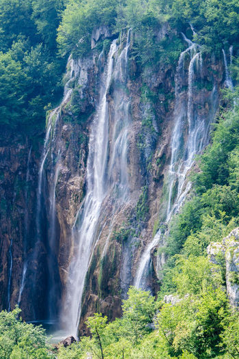 Croatia Hiking National Park Plitvice Lakes National Park UNESCO World Heritage Site Beauty In Nature Flowing Water Forest Land Nature No People Outdoors Plitvice National Park Power In Nature Rock Scenics - Nature Water Waterfall