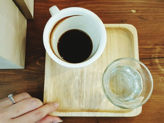 My Cup Coffee Time Long Black Cup Coffee Stain Table Drink Lifestyle