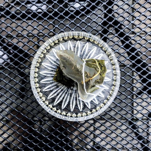 teabag Marcweberde Metal No People Close-up Safety Pattern Fence Day Security Shape Outdoors High Angle View Gold Colored Chainlink Fence Protection Barrier Design Boundary Circle Sunlight Art And Craft Teabag
