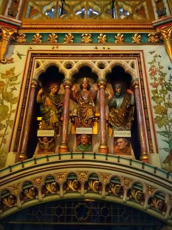 1877 castle interior Multi Colored Place Of Worship Ornate Decorative Art Close-up Architecture Built Structure Architectural Design Carving - Craft Product Statue Sculpture Carving