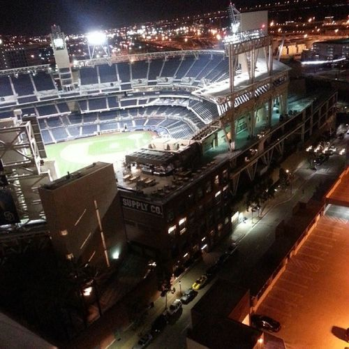 Our view from the sky lounge at the Marriott 22ndfloor Beautifulview Petcopark Stadium sanpadre