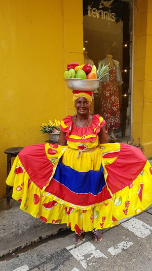 Palenquera Traditional Clothing Cultures Yellow Tradition Multi Colored Palenqueras