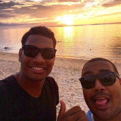 Sunset with my homie !! Sunset Reunion Island Saintgilles