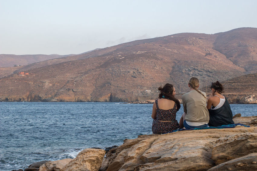August Friends Tinos Greek Island Tinos Greece Travel Trip Young Beatiful Nature Beauty In Nature Boat Holydays Idyllic Landscape Landscapes Summer Tinos Togetherness Women