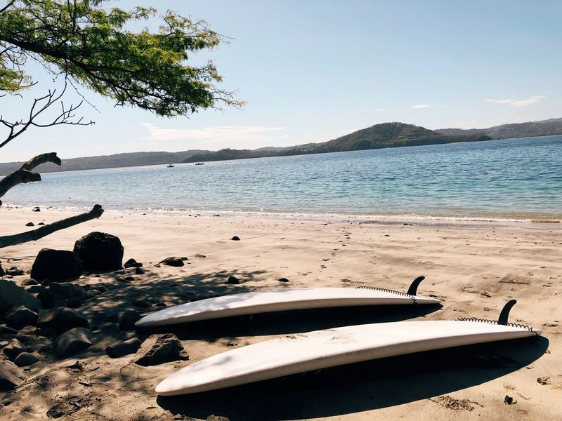 Surf's Up! Scenic Landscape Caughtandcaptured Wave Ocean Paradise Vacations Central America Costa Rica Surfboard Surf Beach Sea Water Nature Sand Beauty In Nature Scenics Outdoors Tree Tranquility