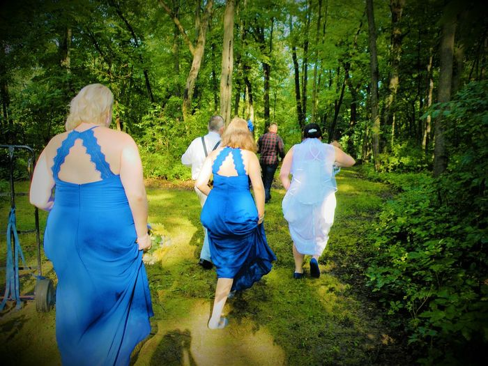 Walking Rear View Women Tree Real People Outdoors Day Nature People In A Row Beauty In Nature Life Classic Family Moments Picture Perfect Rear View Togetherness Remember Love Happy Forever Devoted Celebration Guests