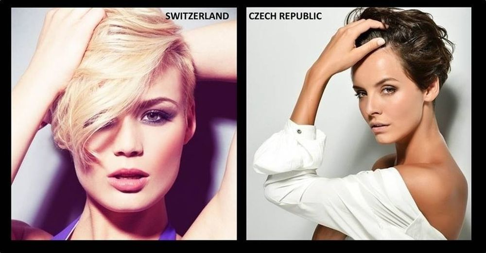 I know I should be rooting for Missphilippines but Im OK if any if the two HOT short haired beauties takes home the title. MissSwitzerland MissCzechRepublic MissUniverse2013