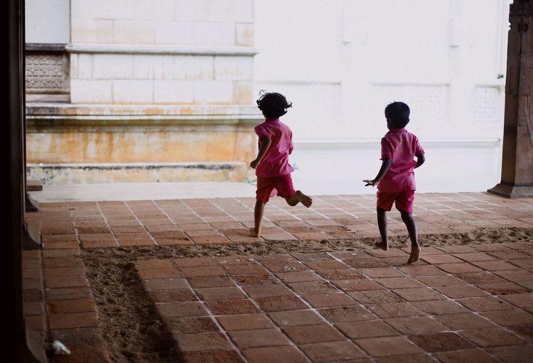 Childhood Childhood Running Boys Temple Sri Lanka Happy InMotion Sommergefühle EyeEm Selects The Street Photographer - 2018 EyeEm Awards