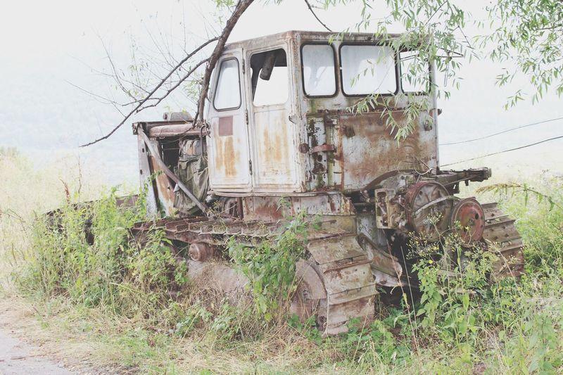 Armenia Tourism Traveling Dilijan Abandoned Traktor