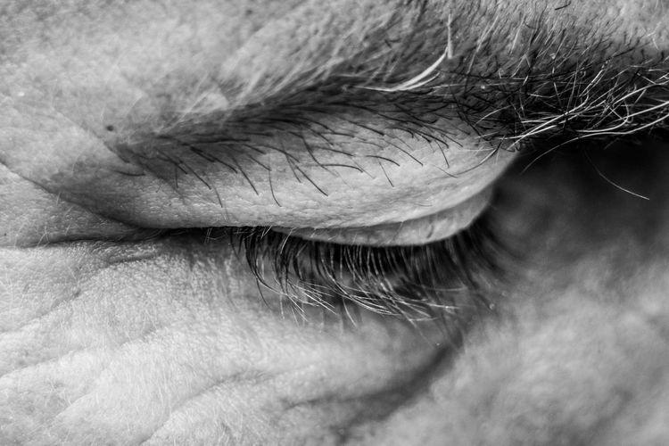EyeEmNewHere Adult Body Part Close-up Extreme Close-up Eye Eyebrow Eyelash Eyelid Eyes Closed  Eyesight Human Body Part Human Eye Human Face Human Hair Human Skin Mature Adult Men One Person Real People Sensory Perception Skin