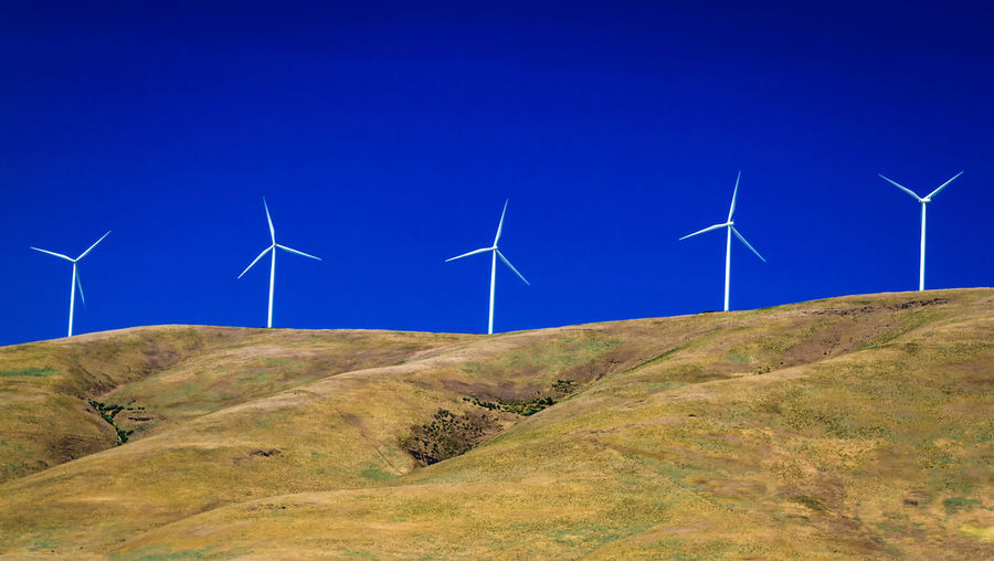 Alternative Energy Beauty In Nature Blue Day Electricity  Environmental Conservation Fuel And Power Generation Industrial Windmill Landscape Nature No People Outdoors Renewable Energy Rural Scene Sky Sustainable Resources Technology Wind Power Wind Turbine Windmill EyeEmNewHere