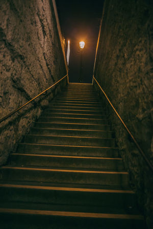 Dark Photography Illuminated Nature Night Night Lights Nightphotography No People Outdoors Paris Railing Staircase Steps Steps And Staircases Street Night The Way Forward Tunnel