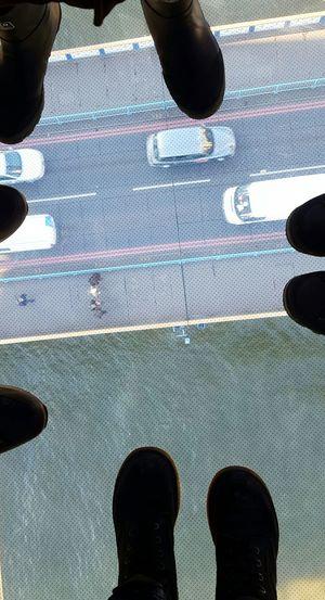 View Glass Floor Tower Bridge Exhibition Interesting EyeEm Best Shots The River Thames Bridge Cars Wonderful