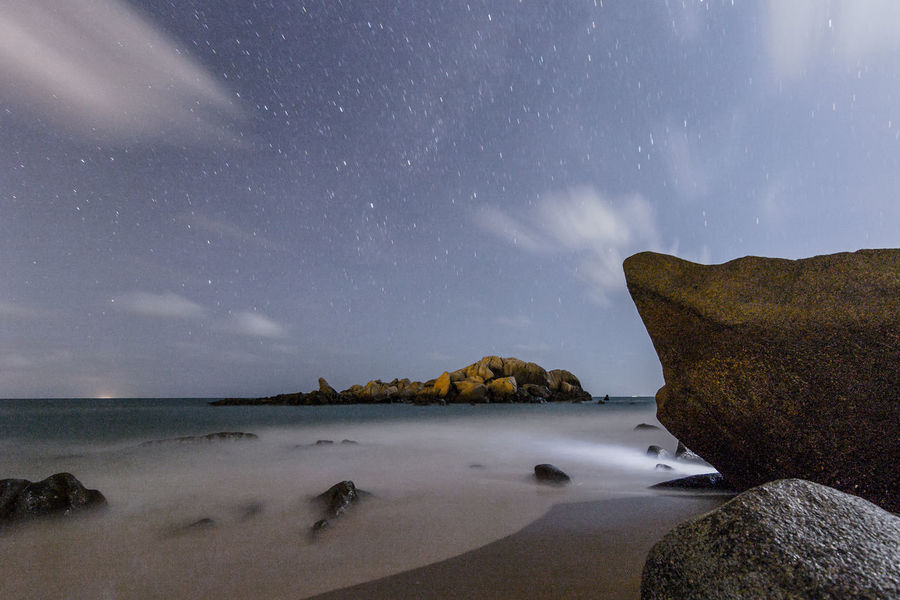 Beach Beauty In Nature Galaxy Giantrocks Horizon Over Water Landscape Long Exposure Milky Way Milkyway Nature Night Nightphotography Sand Scenics Sea Sea And Sky Sky Space Space And Astronomy Star - Space Star Field Tourism Tourist Attraction  Tourist Destination Travel Destinations
