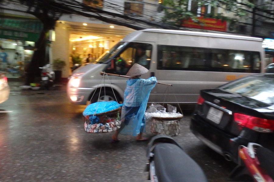 Trip in Hanoi, august 2015 August 2015. Bicycle Chinese Hat City City Street Hanoi City Hanoi Vietnam  Hat Land Vehicle Mode Of Transport Rain Raincover Road Street Traffic Transportation Vietnam