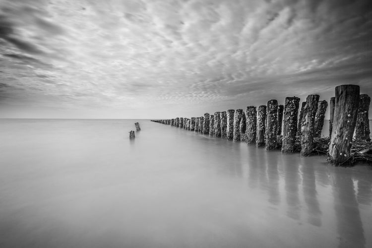 BigStopper Architecture Beach Beauty In Nature Day Horizon Over Water Longexposure Nature One Person Outdoors People Real People Scenics Sea Sky Water