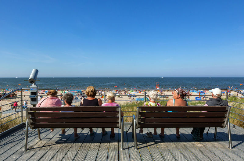 Baltic Sea Adult Bench Day Group Of People Holiday Horizon Horizon Over Water Leisure Activity Men Nature Outdoors Relaxation Sea Seat Sitting Sky Trip Vacations Water Women