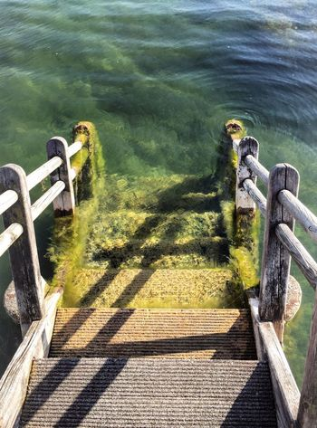 First Dip of the Year Summerinvienna Wien Vienna AlteDonau Holzsteg Donau Jetty Jetty View Blue Green Wood Water The Architect - 2016 EyeEm Awards The Essence Of Summer Feel The Journey Color Palette