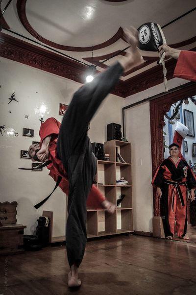 Men Lima Lama Martial Arts Sport Sports Photography Sports Self Defense Man Full Length One Person Kicks Kick Mexico City Color Trainning Trainning Photography