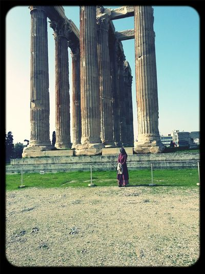 while i was at Zeus' . Olympia Of Zeus Athens Greece Temple