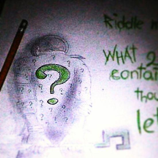 Drawing Batman Riddle