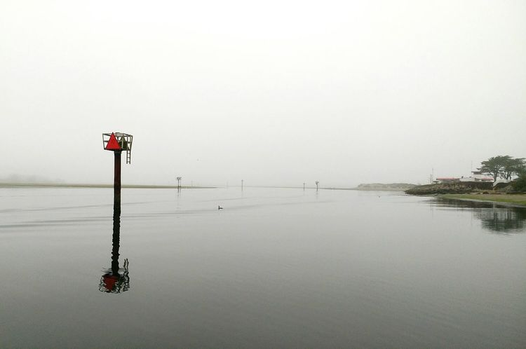 Tranquility Lake Beach Outdoors Tranquil Scene Day No People Water Scenics Beauty In Nature Nature Horizon Over Water Flood Sky Marine Navigation Reflections Landscape Wetlands Reflection California Foggy Morning