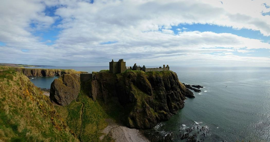 Castle Travel Destinations Stonehaven In Scotland Dunnotar Castle Dunnotar Architecture Nature Outdoors Panoramic