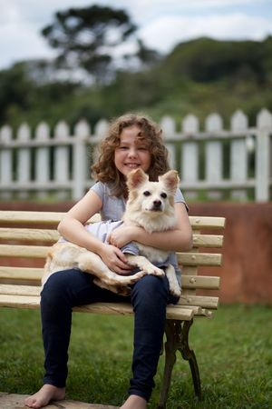 girl and her dog Animal Themes Casual Clothing Day Dog Domestic Animals Embracing Friendship Full Length Girl Grass Happiness Looking At Camera Love Mammal Nature One Animal One Person Outdoors Pets Portrait Real People Sitting Sky Smiling This Is Latin America