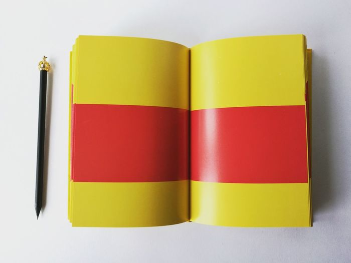 Pencil Pencil Creativity Pencil And Book Books To Read Colour Book Yellow And Red Book White Background Studio Photography Two Is Better Than One