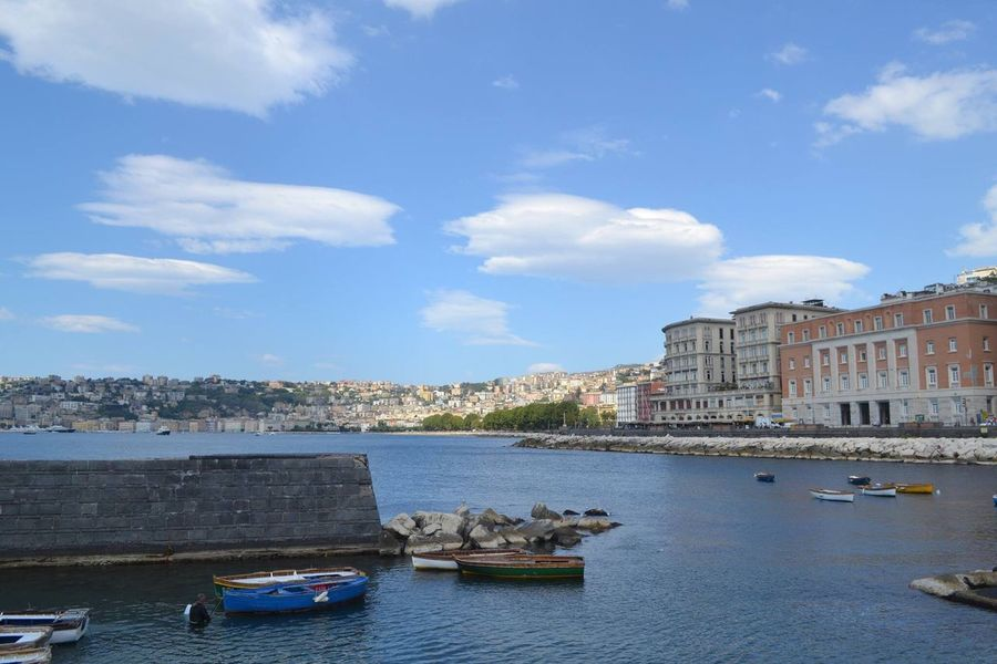 Napoli Napoli ❤ Architecture Building Exterior Built Structure Water Sky Nautical Vessel Transportation City Boat River Mode Of Transport Cloud - Sky Day Canal Blue Outdoors City Life Tourism Sea