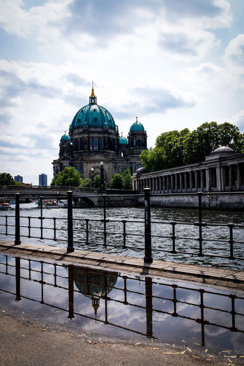 Museumsinsel Architecture Berlin Berlin Mitte Berlin Photography Berliner Ansichten Building Exterior Built Structure Cloud - Sky Day Dome Museumsinsel No People Outdoors Place Of Worship Religion River Sky Spirituality Travel Destinations Water The Architect - 2017 EyeEm Awards