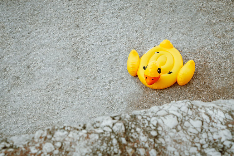 Toy on sand